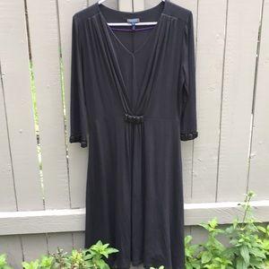 Escada Black Jewelled Sundress Size 38